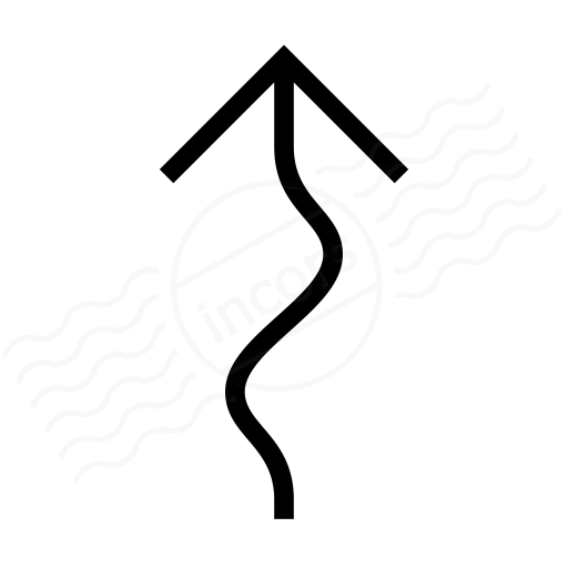Arrow Squiggly Icon