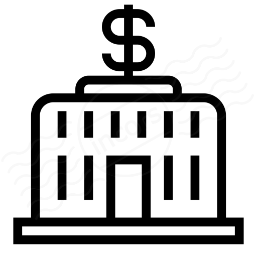 Central Bank Dollar Icon