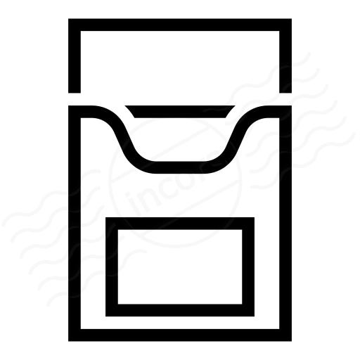 Cigarette Packet Empty Icon