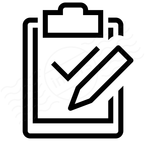 Clipboard Check Edit Icon
