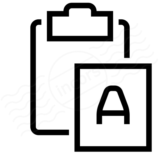 Clipboard Paste No Format Icon