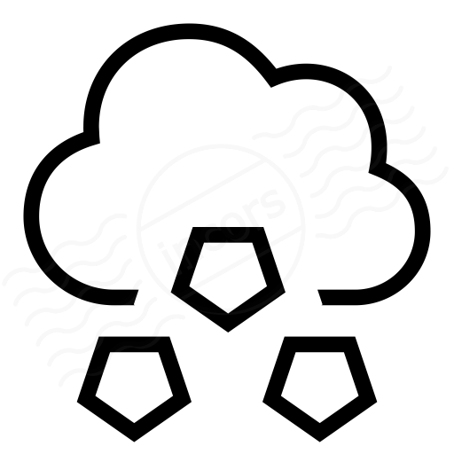 Cloud Hail Icon