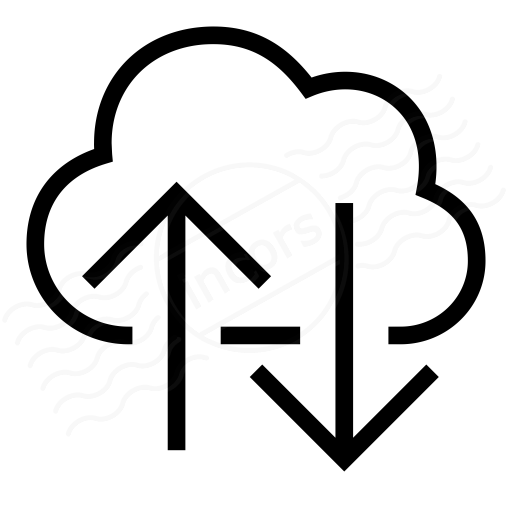 Cloud Updown Icon