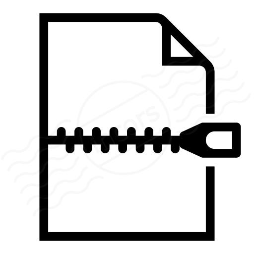 Document Zip Icon