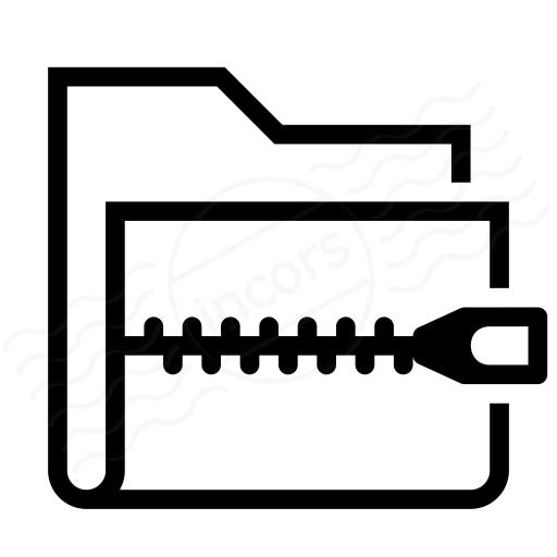 Folder Zip Icon