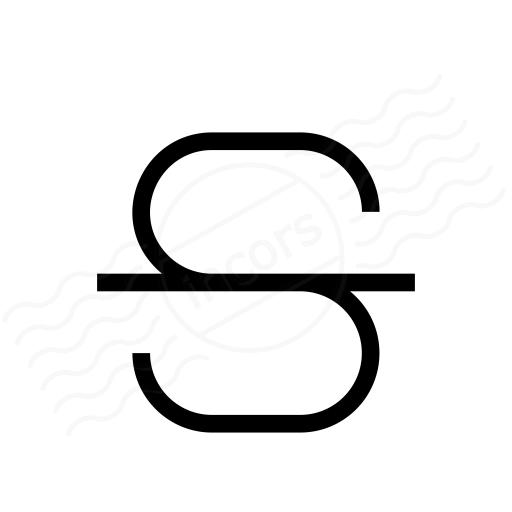 Font Style Strikethrough Icon