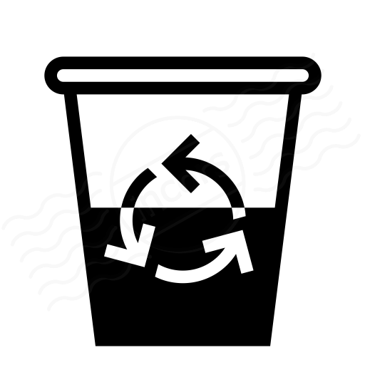 Garbage Half Full Icon