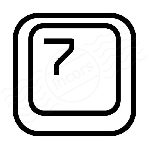 Keyboard Key 7 Icon