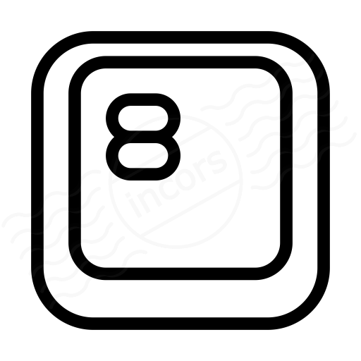 Keyboard Key 8 Icon