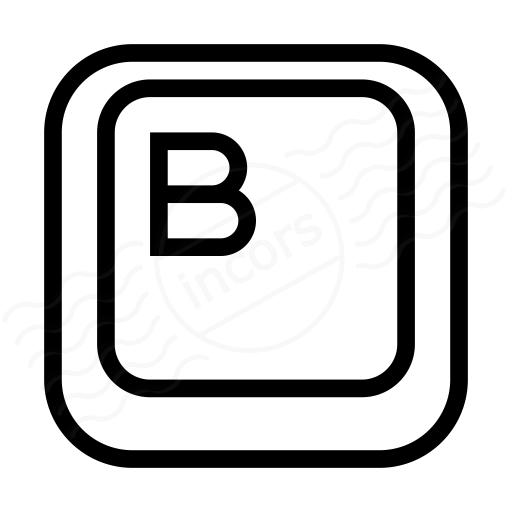 Keyboard Key B Icon