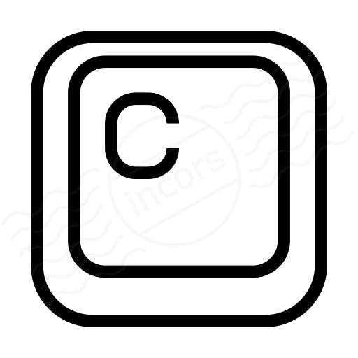 Keyboard Key C Icon