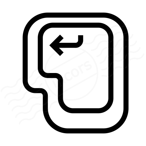 Keyboard Key Enter Icon