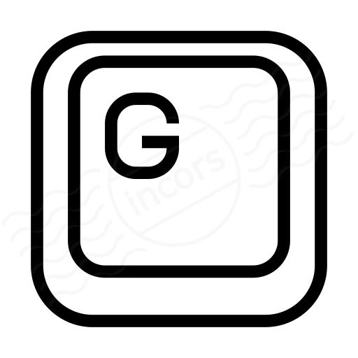Keyboard Key G Icon