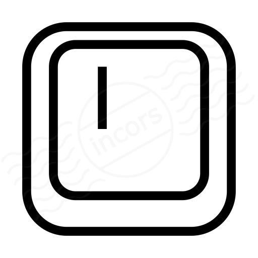 Keyboard Key I Icon