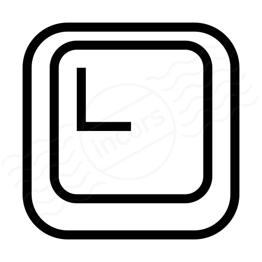Keyboard Key L Icon