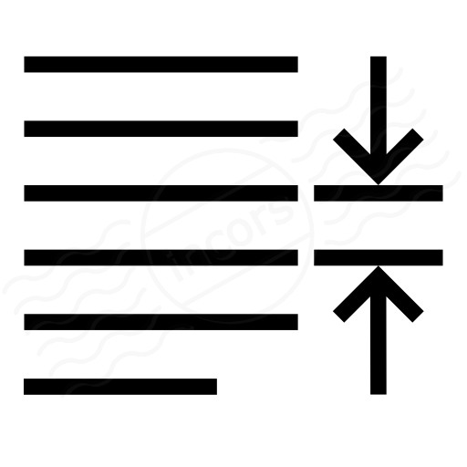 Line Spacing Text Icon