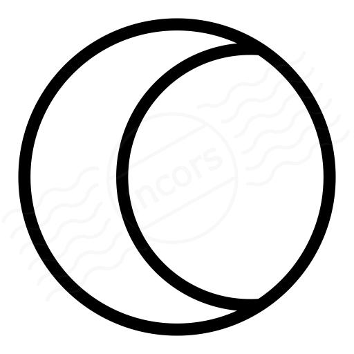 Moon Half Icon
