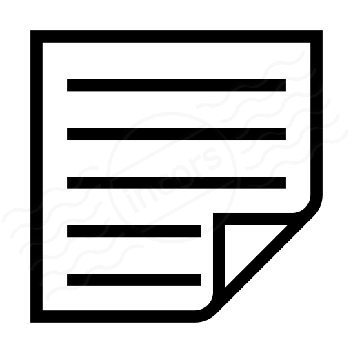 Note Text Icon