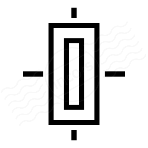 Object Alignment Center Icon