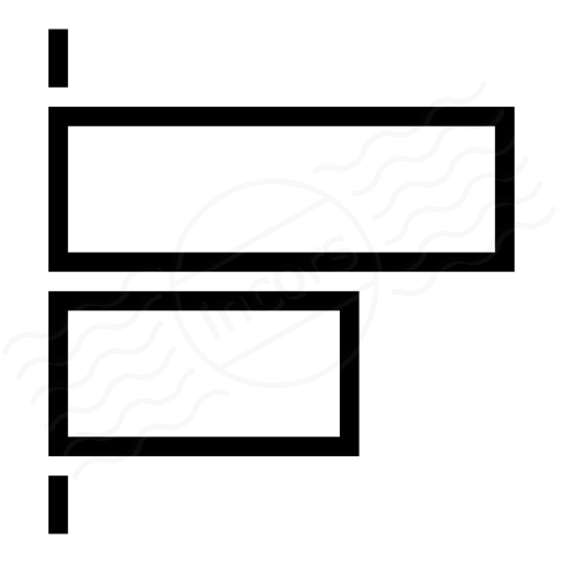 Object Alignment Left Icon