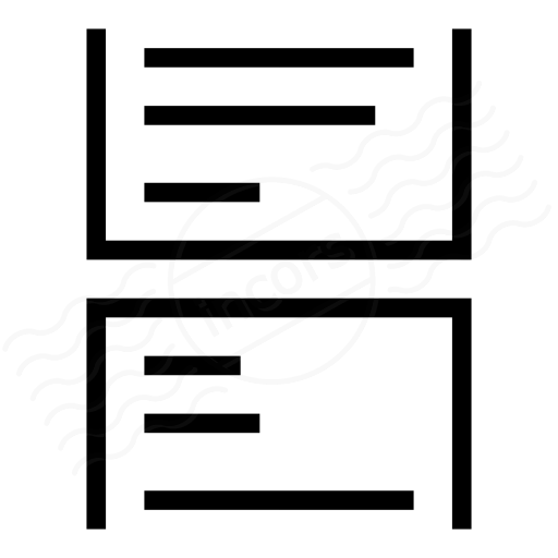 Print Layout Continous Icon