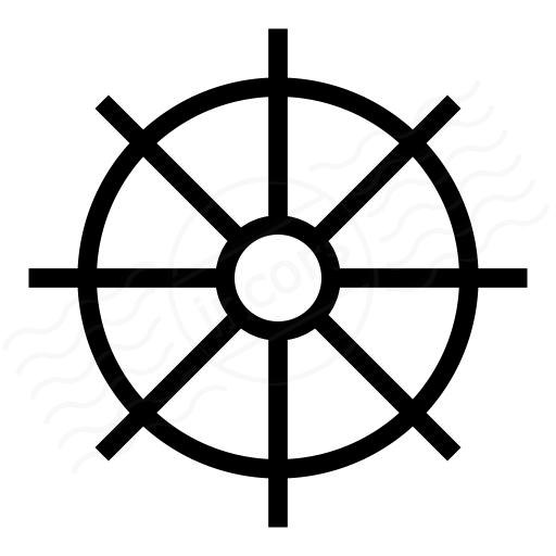 Ships Wheel Icon