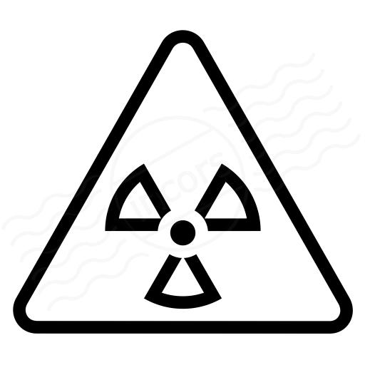 Sign Warning Radiation Icon