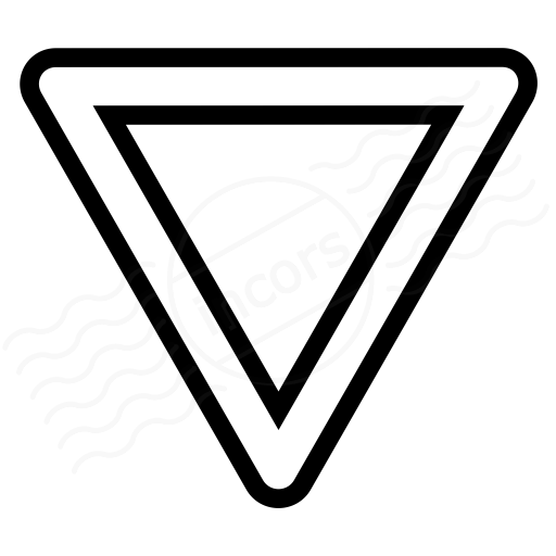 Sign Yield Icon
