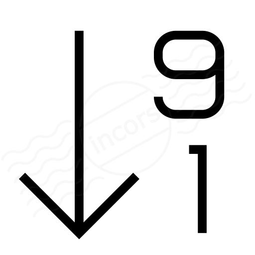 Sort 19 Descending Icon