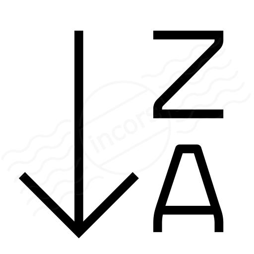 Sort Az Descending 2 Icon