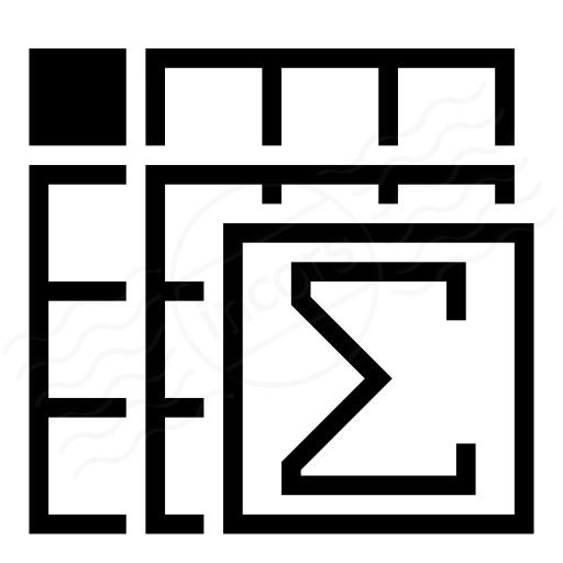 Spreadsheed Sum Icon