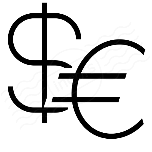 Symbol Dollar Euro Icon