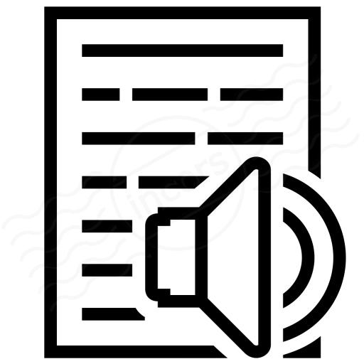 Text Speaker Icon