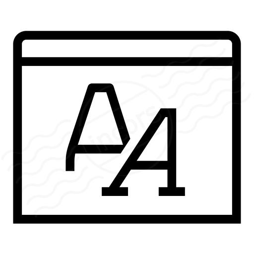 Window Font Icon