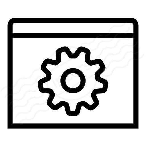 Window Gear Icon
