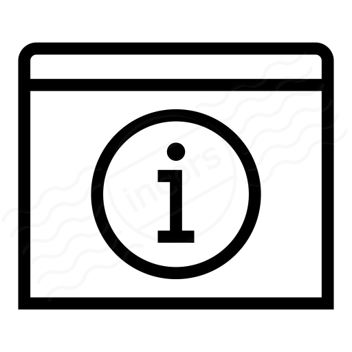 Window Information Icon