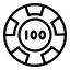 Gambling Chip Icon 64x64
