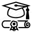 Graduation Hat 2 Icon 64x64