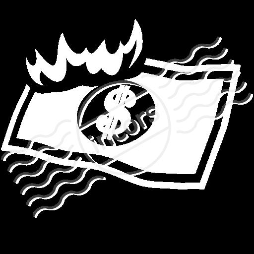 Money Bill Fire Icon