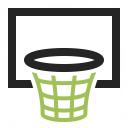 Basketball Hoop Icon 128x128