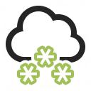 Cloud Snow Icon 128x128