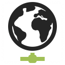 Earth Network Icon 128x128