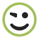 Emoticon Blink Icon 128x128