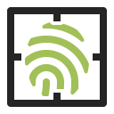 Fingerprint Scan Icon 128x128