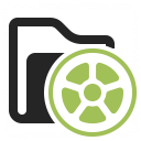 Folder Movie Icon 128x128