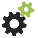 Gearwheels Icon 128x128