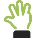Hand Four Icon 128x128