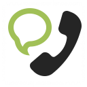 Phone Speech Bubble Icon 128x128