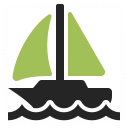 Sailboat Icon 128x128