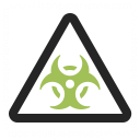 Sign Warning Biohazard Icon 128x128